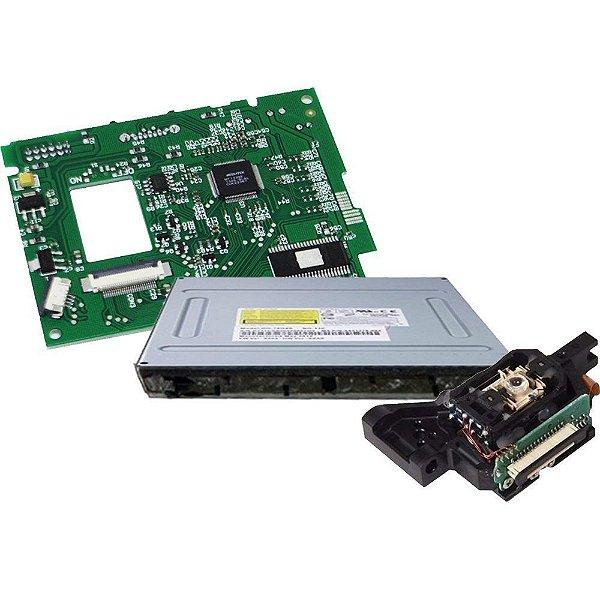 Pç Xbox 360 Drive Slim + Leitor + PCB 9504