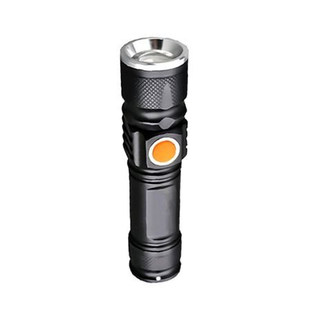 Mini Lanterna Tática Led SXZ Recarregável USB C/ Zoom