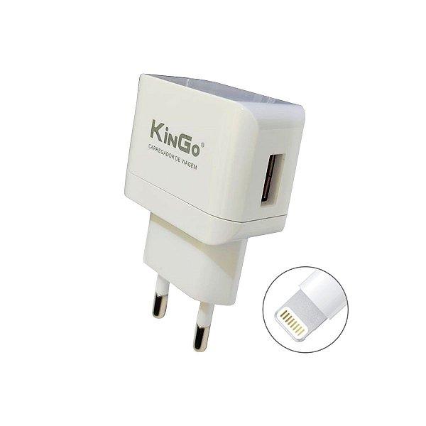 Fonte Celular Kingo U201 2.1A + Cabo USB Lightning