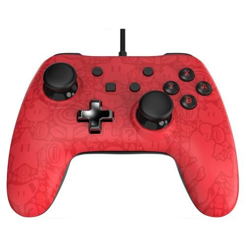 Controle Com Fio Power A Wired Plus Mario - Switch