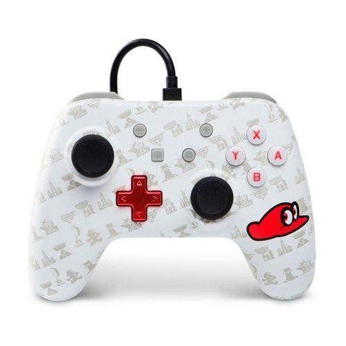 Controle Com Fio Power A Wired Super Mario Odyssey - Switch