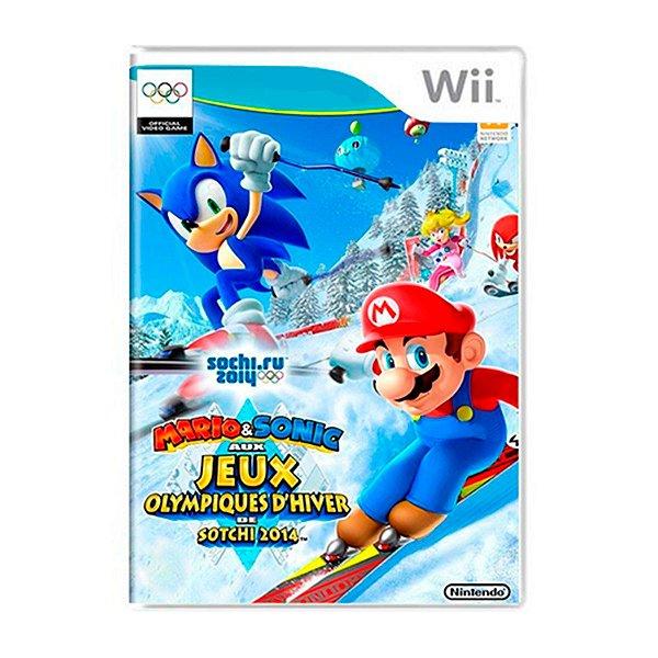 Jogo Mario e Sonic At The Olympic Winter Games Sochi 2014 - Wii U Seminovo