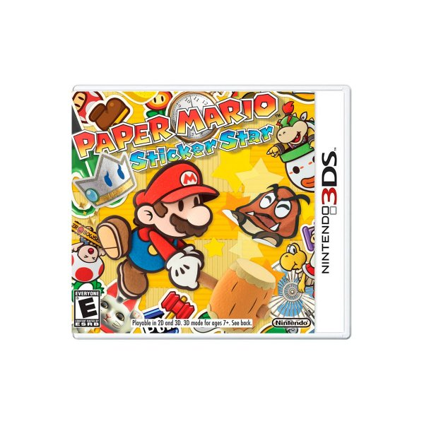 Jogo Paper Mario Sticker Star - 3DS (Seminovo)