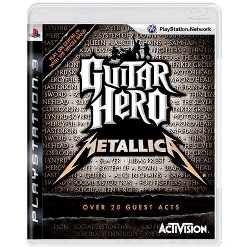 Jogo Guitar Hero Metallica - PS3 Seminovo
