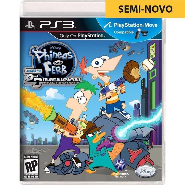 Jogo Phineas and Ferb Across The 2nd Dimension - PS3 Seminovo