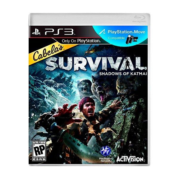 Jogo Cabelas Survival Shadows of Katmai - PS3 (Seminovo)