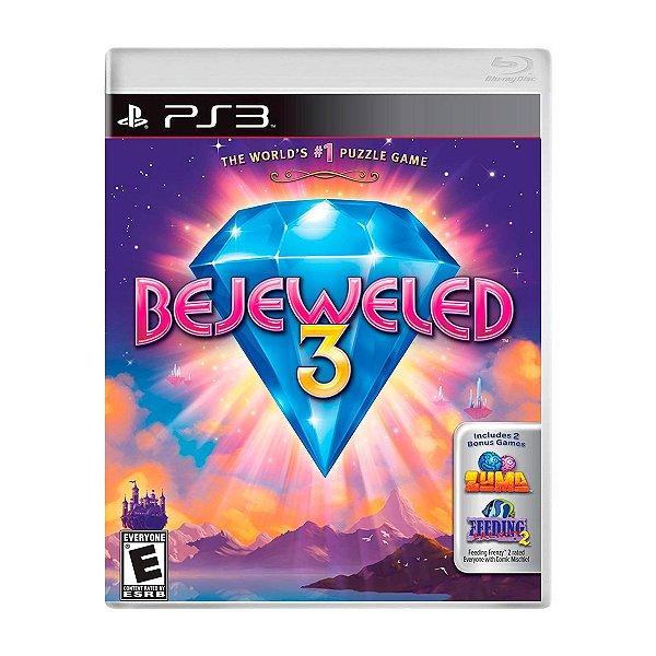 Jogo Bejeweled 3 - PS3 (Seminovo)