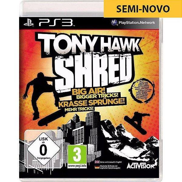 Jogo Tony Hawk Shred - PS3 Seminovo