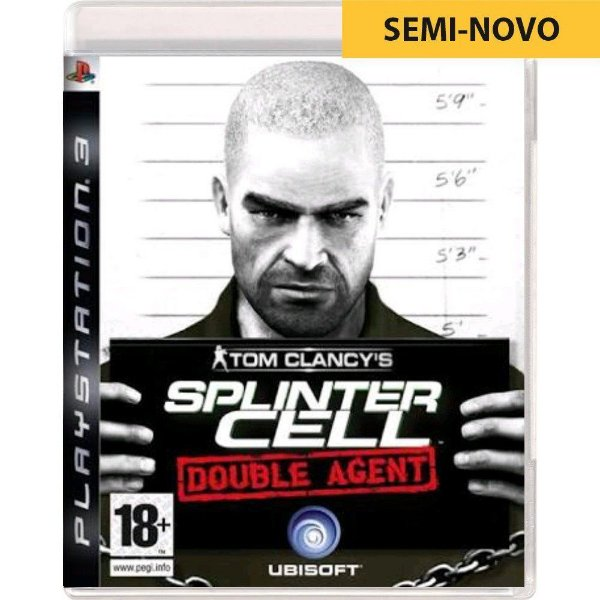 Jogo Tom Clancys Splinter Cell Double Agent - PS3 (Seminovo)
