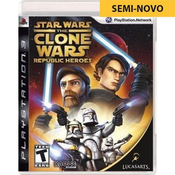Jogo Star Wars The Clone Wars Republic Heroes - PS3 (Seminovo)