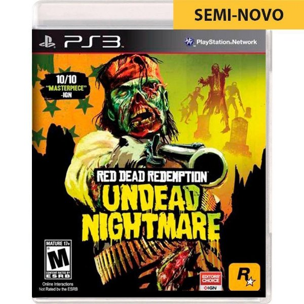 Jogo Red Dead Redemption Undead Nightmare - PS3 (Seminovo)