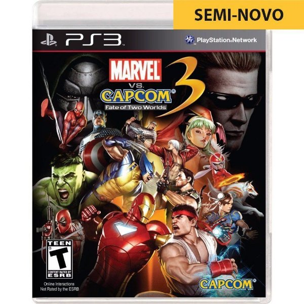 Jogo Marvel Vs Capcom 3 Fate of Two Worlds - PS3 (Seminovo)