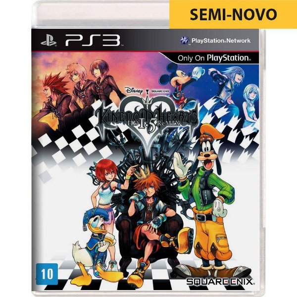 Jogo Kingdom Hearts HD 1.5 Remix - PS3 (Seminovo)