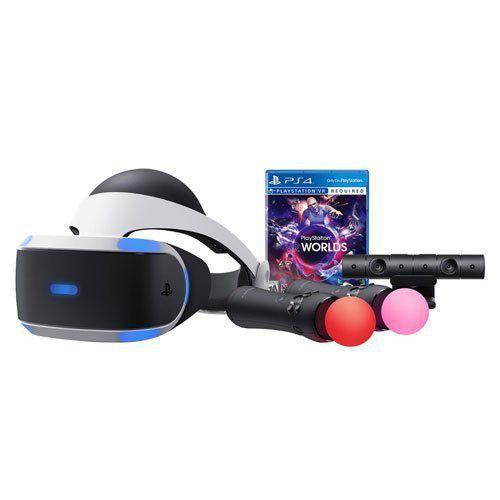 Oculos PlayStation VR + Câmera + 2 Controles Move + Jogo VR Worlds CUH-ZVR2 - PS4