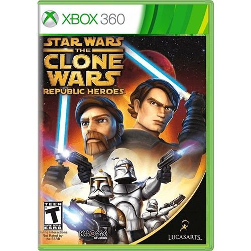 Jogo Star Wars The Clone Wars Republic Heroes - Xbox 360 (Seminovo)