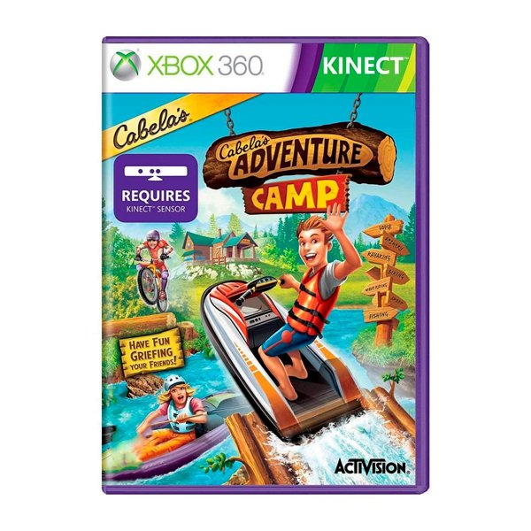 Jogo Cabelas Adventure Camp Kinect - Xbox 360 (Seminovo)