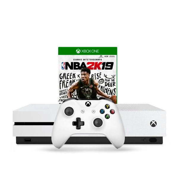 Console Xbox One S 1TB Branco + Jogo NBA 2K19
