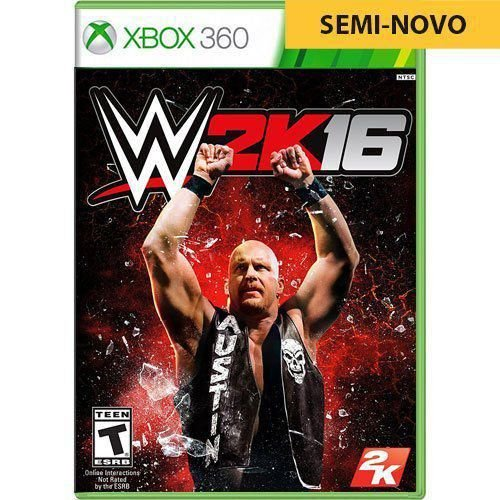 Jogo WWE 2K16 - Xbox 360 (Seminovo)