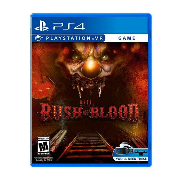 Jogo Until Dawn Rush of Blood VR - PS4