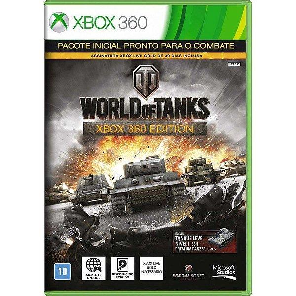 Jogo World of Tanks - Xbox 360 Seminovo