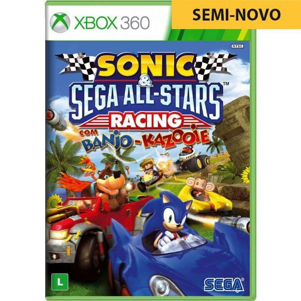 Jogo Sonic All Star Racing With Banjo Kazooie - Xbox 360 (Seminovo)