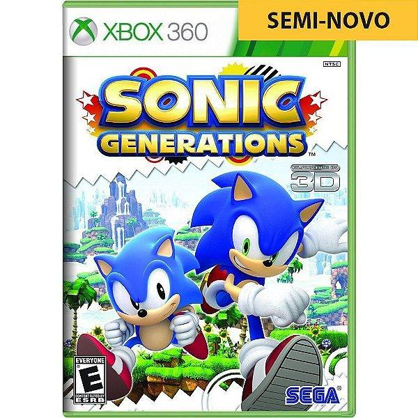 Jogo Sonic Generations - Xbox 360 (Seminovo)