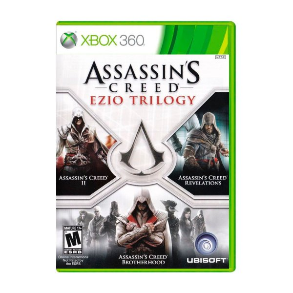Jogo Assassins Creed Ezio Trilogy - Xbox 360 (Seminovo)