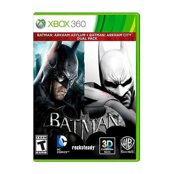 Jogo Batman Arkham Dual Pack - Xbox 360 Seminovo