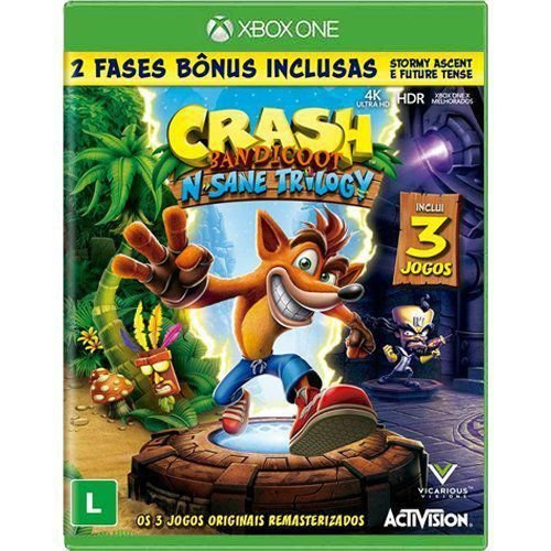 Jogo Crash Bandicoot N. Sane Trilogy - Xbox One