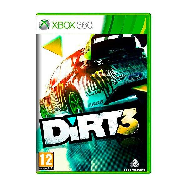 Jogo Dirt 3 - Xbox 360 Seminovo