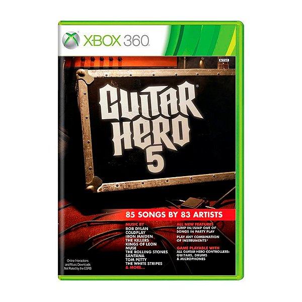 Jogo Guitar Hero 5 - Xbox 360 Seminovo