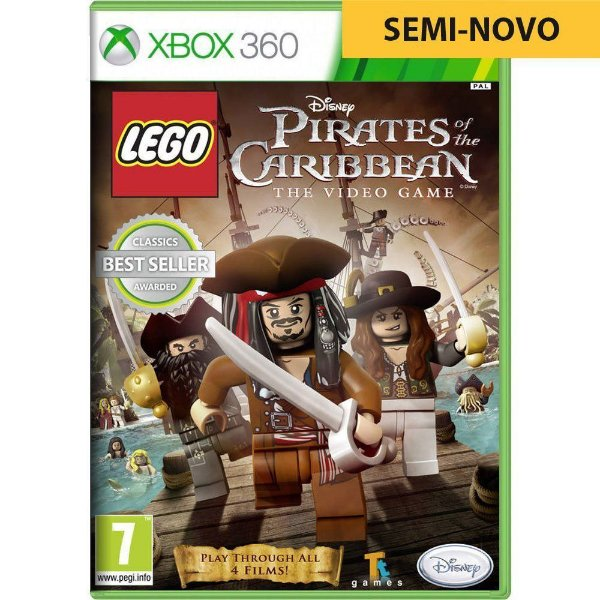 Jogo LEGO The Pirates of The Caribbean - Xbox 360 (Seminovo)