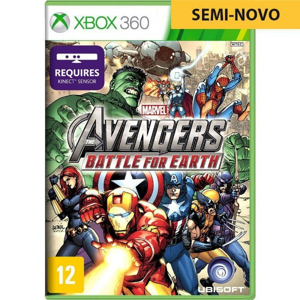 Jogo Marvel Avengers Battle Earth Kinect - Xbox 360 (Seminovo)