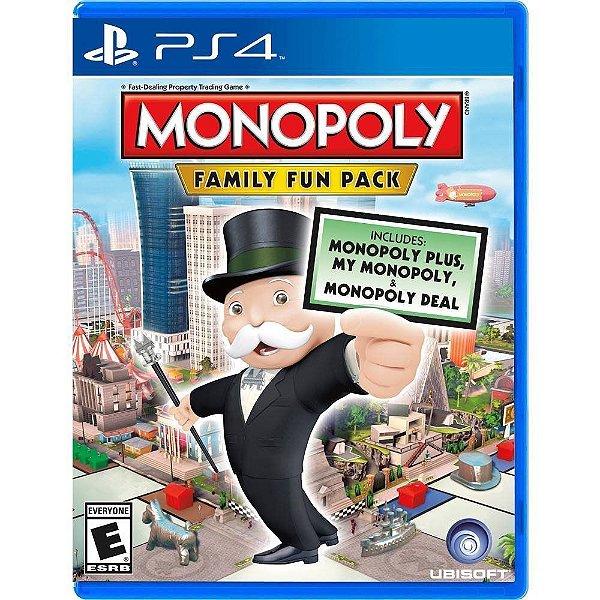 Jogo Monopoly Family Fun Pack - PS4