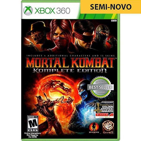 Jogo Mortal Kombat Komplete Edition - Xbox 360 (Seminovo)