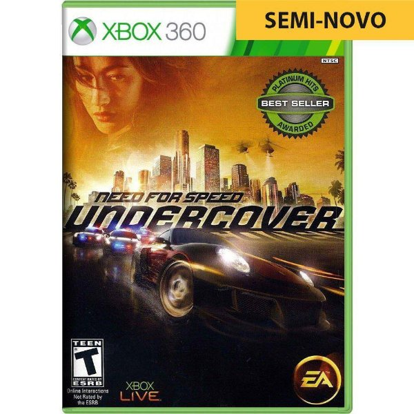 Jogo Need For Speed Undercover - Xbox 360 (Seminovo)