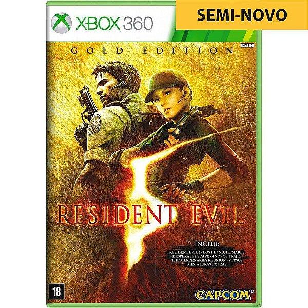 Jogo Resident Evil 5 Gold Edition - Xbox 360 Seminovo