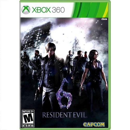 Jogo Resident Evil 6 - Xbox 360 Seminovo