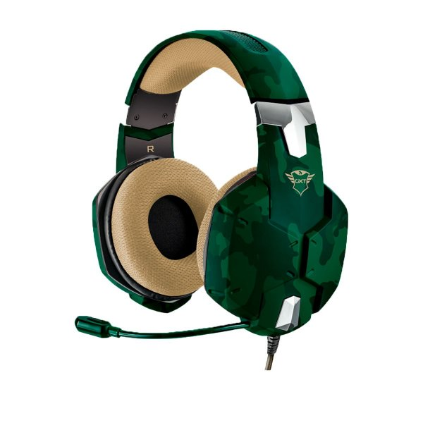 Headset Trust GXT 322C Carus Jungle Camo - PS4 / Xbox One / Switch / PC