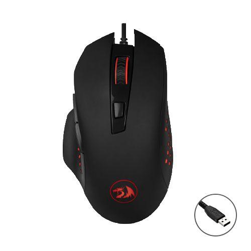 Mouse Gamer Redragon Solid Gainer M610 6 Botões USB