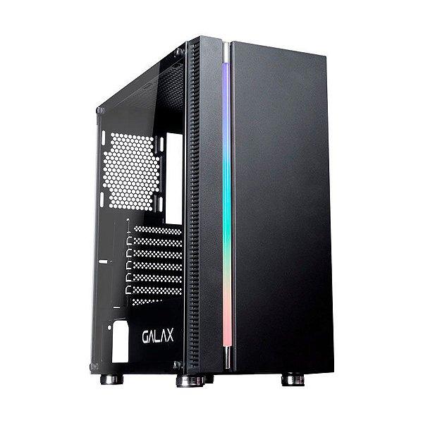 Gabinete Gamer Galax Solid Quasar GX600 Preto (Sem Fonte)
