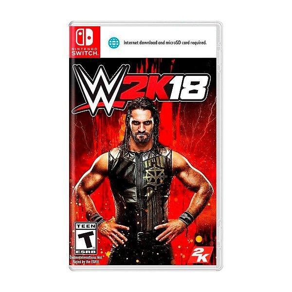 Jogo WWE 2K18 - Switch Seminovo