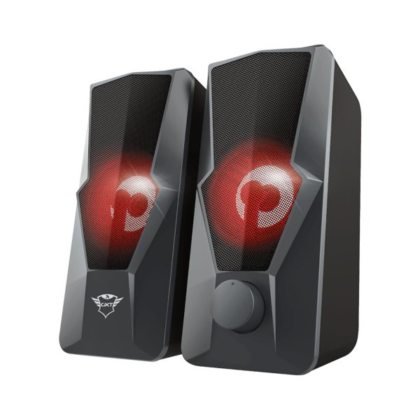 Caixa de Som Speaker Trust GXT 610 Argus Illuminated 2.0 LED USB - PC/ Laptop