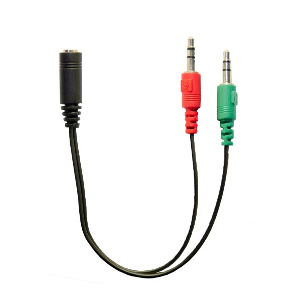 Adaptador 2 P2 Macho para 1 P2 Fêmea 3.5mm