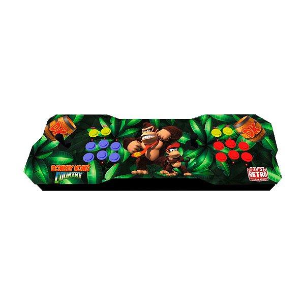 Console Fliperama Raspberry Duplo Donkey Kong Country+ 10 mil Jogos