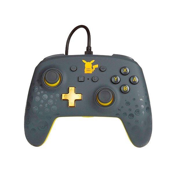 Controle Com Fio Power A Wired Pikachu Grey - Switch