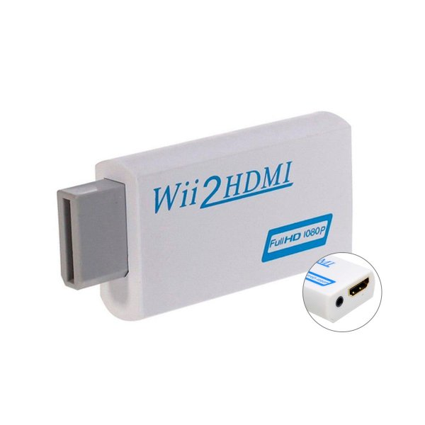 Adaptador HDMI para Wii com 3.5mm Áudio 1080p