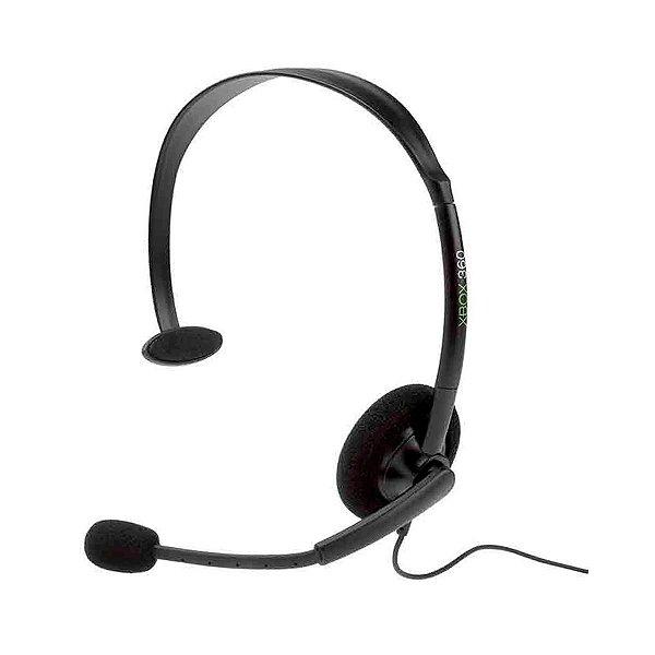 Headset Microsoft Básico Preto - Xbox 360 (Seminovo)