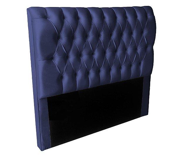 Cabeceira Casal Londres 140cm - Azul Marinho