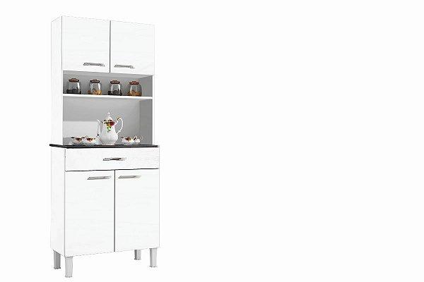 Armario De Cozinha Alfa 4 P Branco Sallêto
